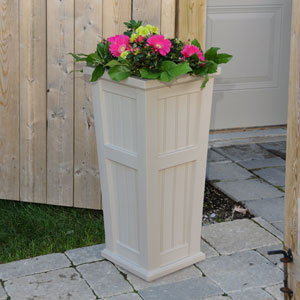 Cape Cod Tall Planter  - Clay