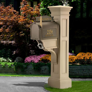 Liberty Clay Mailbox Post