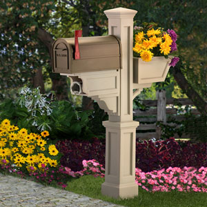 Signature Plus Clay Mailbox Post