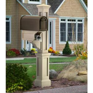 Rockport Clay Single Mailbox Post