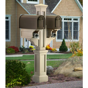 Rockport Clay Double Mailbox Post