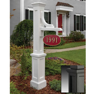 Woodhaven Black Address Sign Post