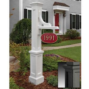 Woodhaven Black Address Sign Post