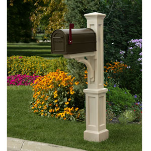 Newport Plus Clay Mailbox Post