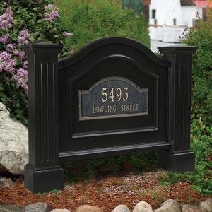 Nantucket Black Address Sign