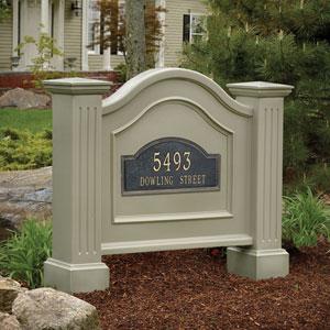 Nantucket Clay Address Sign