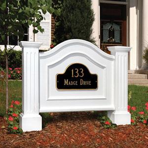Nantucket White Address Sign