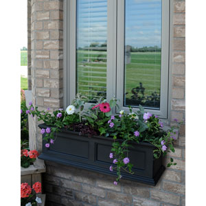Fairfield Black 36-Inch Window Box