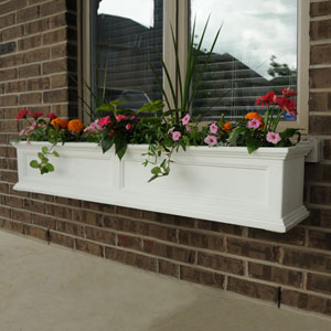 Fairfield White 60-Inch Window Box