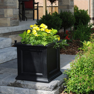 Fairfield 20x20 Black Patio Planter