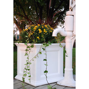 Fairfield 20x20 White Patio Planter
