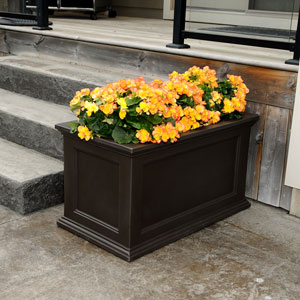 Fairfield Patio Planter 20X36 - Espresso