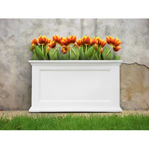 Fairfield 20x36 White Patio Planter