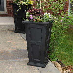 Fairfield Tall Black Planter
