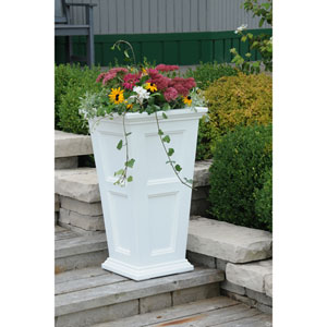 Fairfield Tall White Planter