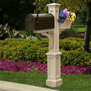 Westbrook Plus Clay Mailbox Post