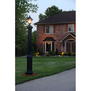Black Signature Lamp Post New England Styled Lamp Post