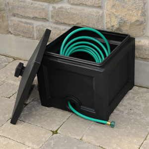 Fairfield Garden Hose Bin - Black