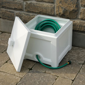 Fairfield Garden Hose Bin - White