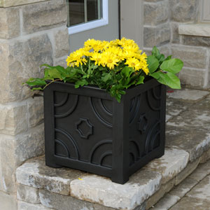 Savannah Patio Planter 16 X 16 Inch - Black