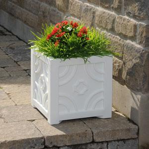 Savannah Patio Planter 16 X 16 Inch - White