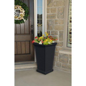 Wellington Black Outdoor Tall Planter
