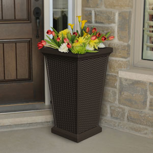 Wellington Espresso Outdoor Tall Planter