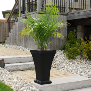Bordeaux Black Tall Planter