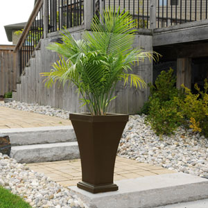 Bordeaux Espresso Tall Planter