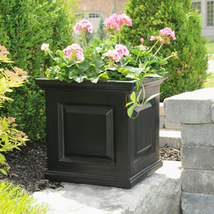 Nantucket Black 16 x 16-Inch Outdoor Planter