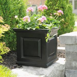 Nantucket Black 16 x 16-Inch Outdoor Planter