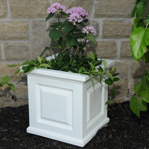 Nantucket White 16 x 16-Inch Outdoor Planter