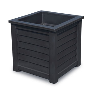 Lakeland Black 20 x 20-Inch Outdoor Planter