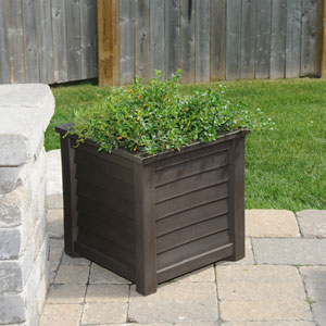 Lakeland Espresso 20 x 20-Inch Outdoor Planter
