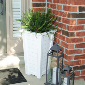 Lakeland White Tall Planter