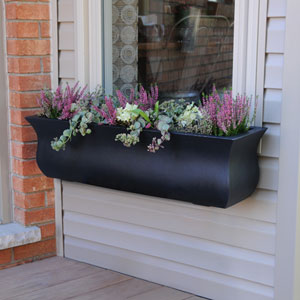 Valencia 3-Foot Window Box - Black