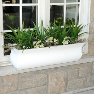Valencia 3-Foot Window Box - White