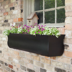 Valencia 4-Foot Window Box - Black