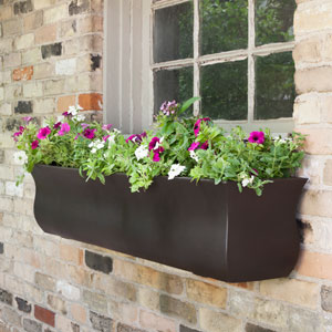 Valencia 4-Foot Window Box - Espresso