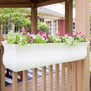 Valencia 4-Foot Window Box - White
