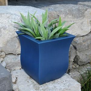 Valencia 16X18 Square Planter - Neptune Blue