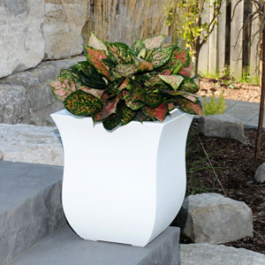 Valencia 16X18 Square Planter - White
