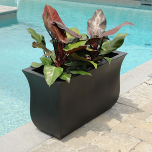 Valencia Long Planter - Black