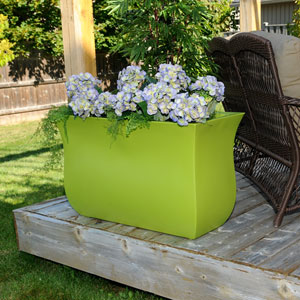 Valencia Long Planter - Macaw Green