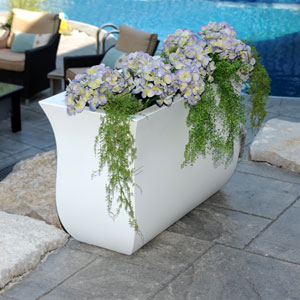 Valencia Long Planter - White