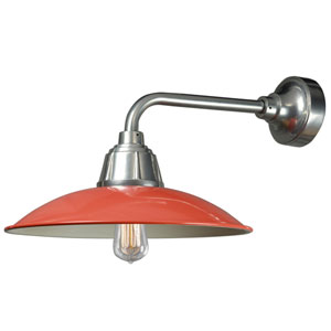 Retropolitan Cantaloupe-Extreme Chrome One-Light Outdoor Wall Sconce