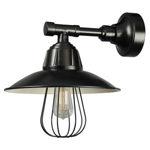 Retropolitan Black One-Light Outdoor Wall Sconce