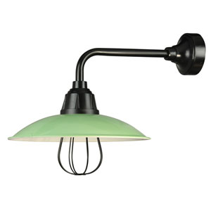 Retropolitan Aspen Green-Black One-Light Outdoor Wall Sconce