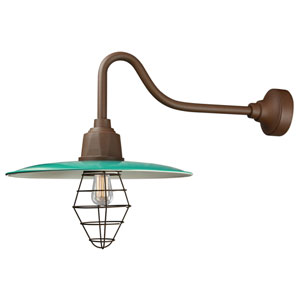 Retropolitan Aqua Green-Copper Clay One-Light Outdoor Wall Sconce