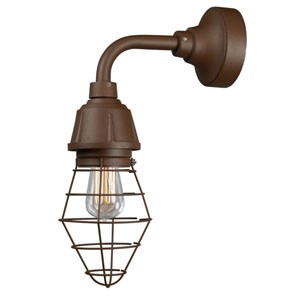 Retropolitan Copper Clay One-Light Outdoor Wall Sconce